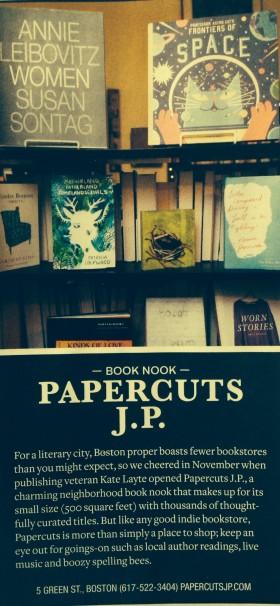 Improper Bostonian's Best Book Nook 2015