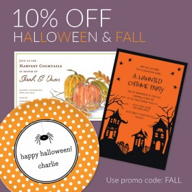 10% Off Halloween & Fall Themed Items