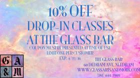 10% off Unique Glass Fusing Classes!