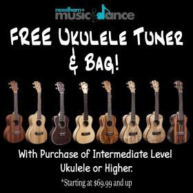 Free Ukulele Tuner & Bag!