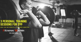 3 Personal Training Sessions for $99
