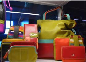 Spring Color Block Leather Handbags