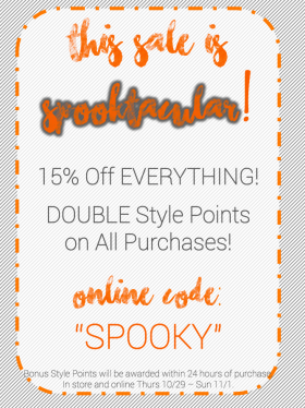 15% Off Everything + Double Style Points