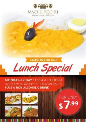Enjoy Our Lunch Special for Only $7.99