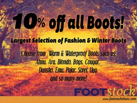 10% Off Boots NOW through November 1ST!