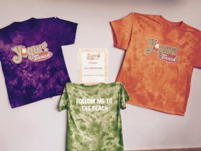 Yogurt Beach tie-dye t-shirt SALE
