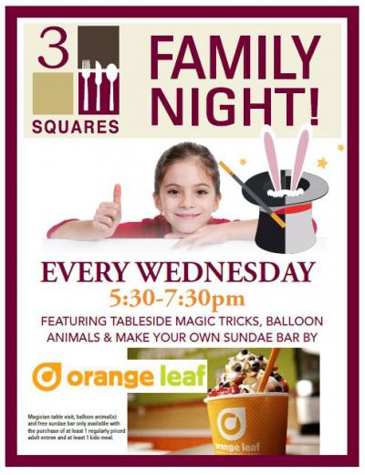 Wednesday is Family Night