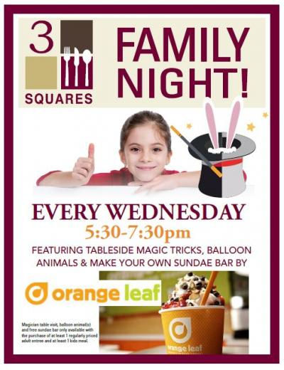 Family Night is EVERY Wednesday!