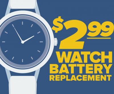 Watch Batteries $2.99!