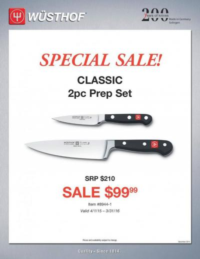 Wusthof Knives Special Sale!