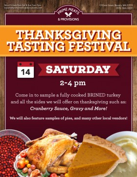 Turkey and sides Sampling Today!