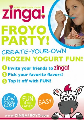 Book Your Zinga Froyo Party!