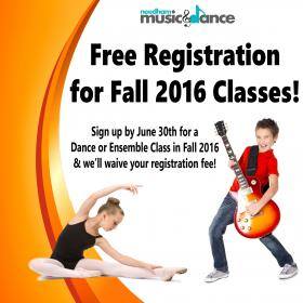Free Registration for Classes!