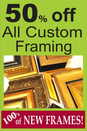 50% off Custom Framing