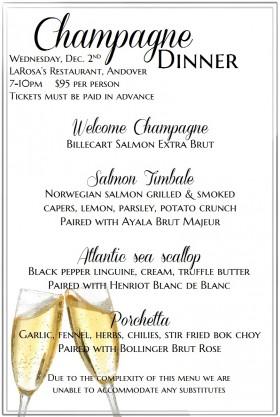 Champagne Dinner