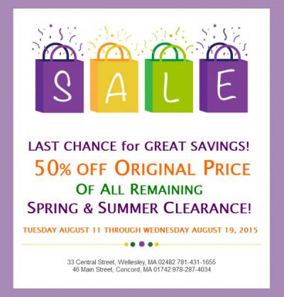 Going... Going... GONE! 50% OFF!