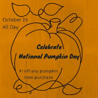 Celebrate National Pumpkin Day!