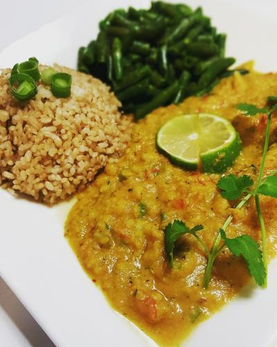 Indian dahl plate this week & 10% off