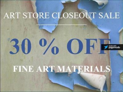 Fine Art Closeout Sale - 30% Off