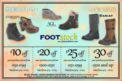 Fall Footwear Coupons!