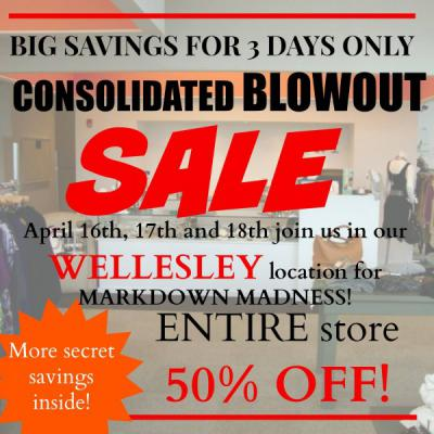 50% Off Spring Blowout Sale!