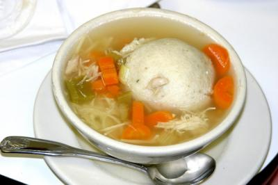 Try Our Matzo Ball Soup!Available Daily!