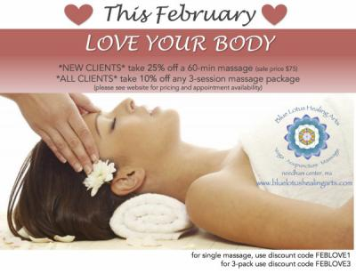 New clients - save 25% on massage!