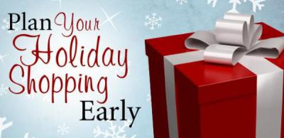 Early Christmas Gift Shoppers Save 10%!